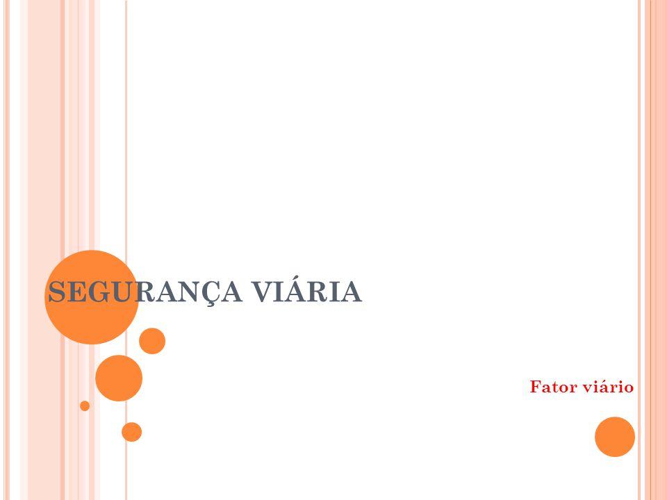 Mestrado Profissional UFRGS A CIDENTES PASSIVEIS DE CORREÇÃO OU A CCIDENT C ORRECTABILITY Analisar apenas a parcela de acidentes que tem seu principal fator causal associados ao componente viário-ambiental Ambiente viário homem veículo Total de acidentes Acidentes com fatores contribuintes desconhecidos Acidentes considerados na análise