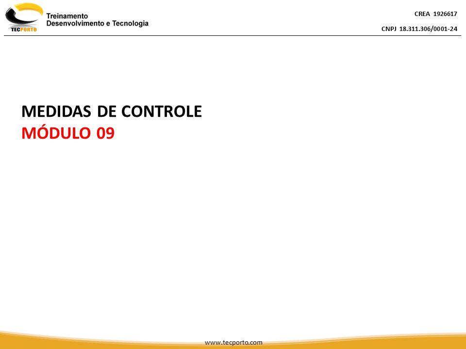 CREA 1926617 CNPJ 18.311.306/0001-24 CREA 1926617 CNPJ 18.311.306/0001-24 www.tecporto.com MEDIDAS DE CONTROLE MÓDULO 09