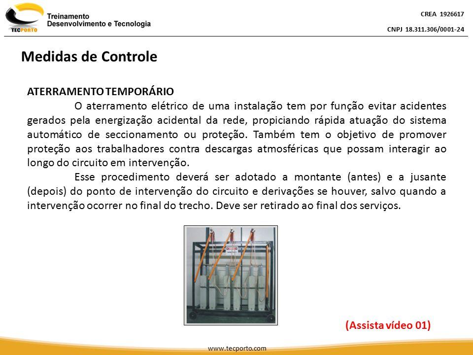 ATERRAMENTO TEMPORÁRIO O aterramento elétrico de uma instalação tem por função evitar acidentes gerados pela energização acidental da rede, propiciand