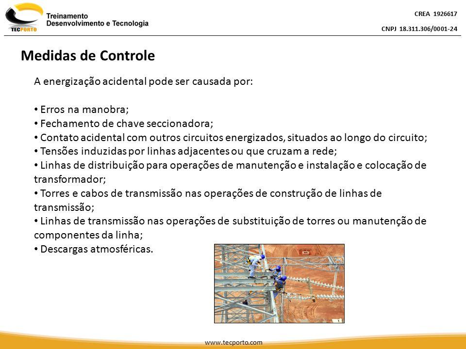 A energização acidental pode ser causada por: Erros na manobra; Fechamento de chave seccionadora; Contato acidental com outros circuitos energizados,
