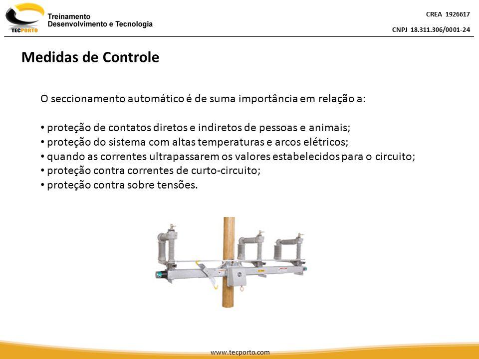 O seccionamento automático é de suma importância em relação a: proteção de contatos diretos e indiretos de pessoas e animais; proteção do sistema com
