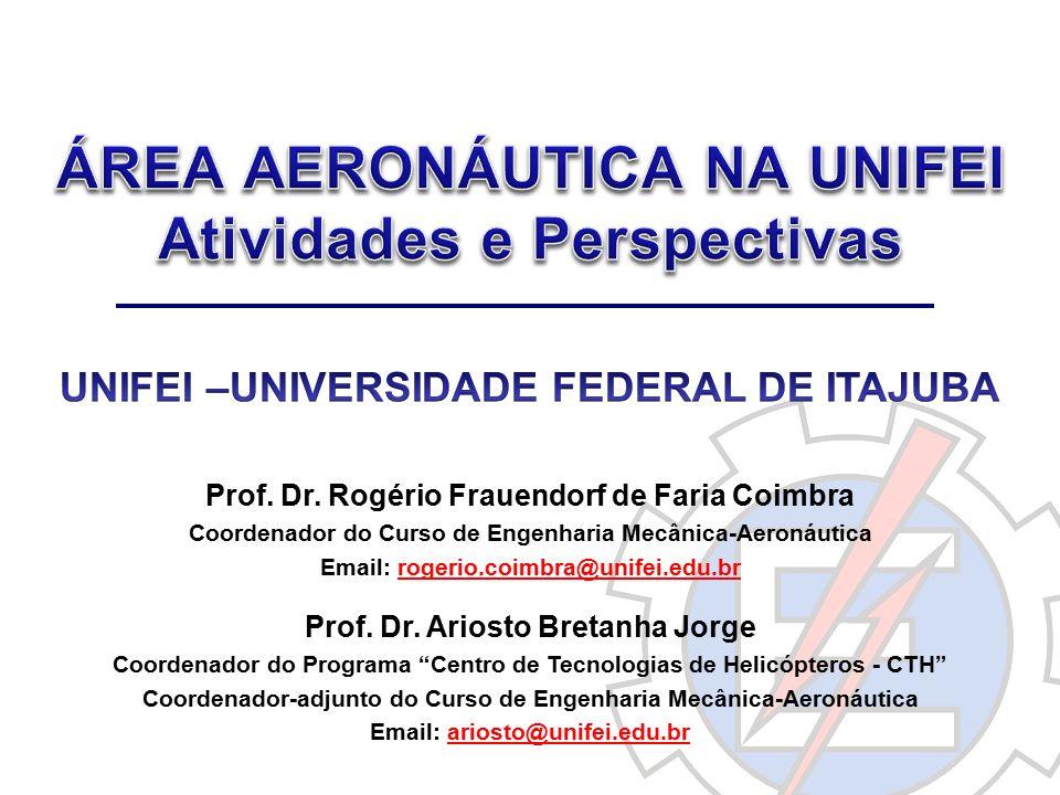 Prof. Dr. Rogério Frauendorf de Faria Coimbra Coordenador do Curso de Engenharia Mecânica-Aeronáutica Email: rogerio.coimbra@unifei.edu.br Prof. Dr. A