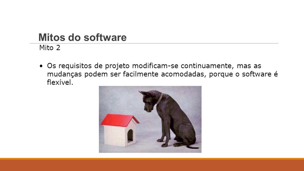 Mito 2 Os requisitos de projeto modificam-se continuamente, mas as mudanças podem ser facilmente acomodadas, porque o software é flexível. Mitos do so
