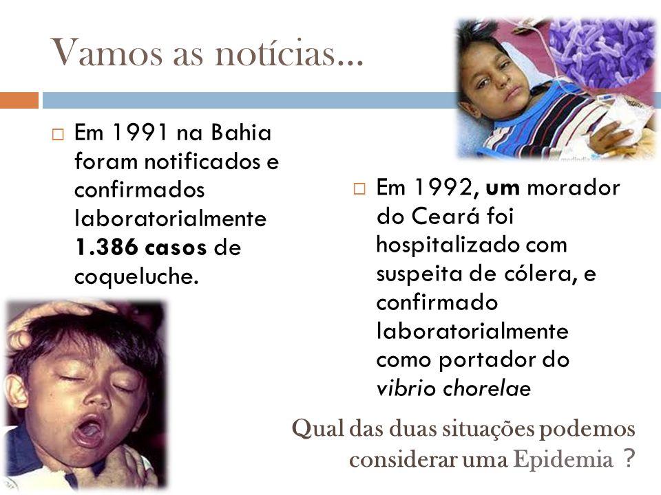Identificando Epidemias  Tendo-se o diagrama de controle de um agravo em relação a uma população torna-se possível identificar uma epidemia no momento em que a incidência da doença ultrapassa o limite superior da faixa endêmica convencionada (também denominado de Limiar Epidêmico)
