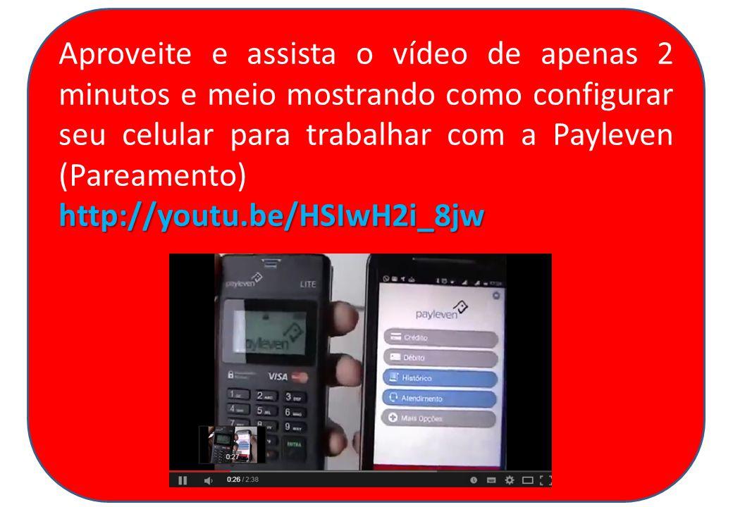 Aproveite e assista o vídeo de apenas 2 minutos e meio mostrando como configurar seu celular para trabalhar com a Payleven (Pareamento)http://youtu.be/HSIwH2i_8jw