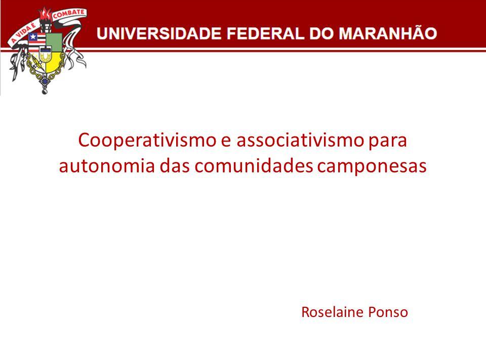 Cooperativismo e associativismo para autonomia das comunidades camponesas Roselaine Ponso