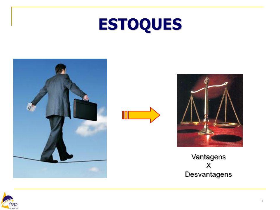 38 CONTROLE DE ESTOQUES Refere-se ao conjunto de ações requerido para se ter ciência sobre a variação dos níveis de estoque dos vários materiais, comprados e produzidos pela empresa ao longo do tempo. (KRAJEWISKI et al, 2009)