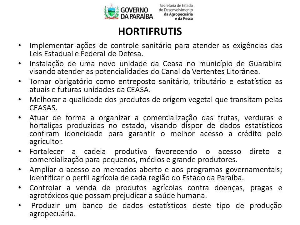 Implementar ações de controle sanitário para atender as exigências das Leis Estadual e Federal de Defesa.