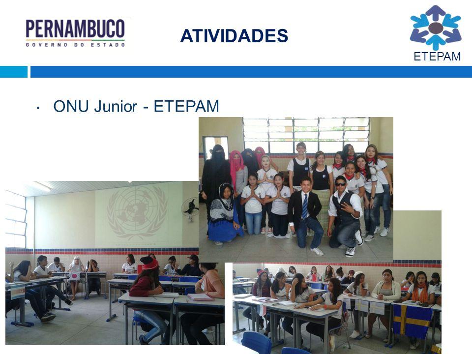 ATIVIDADES ETEPAM ONU Junior - ETEPAM