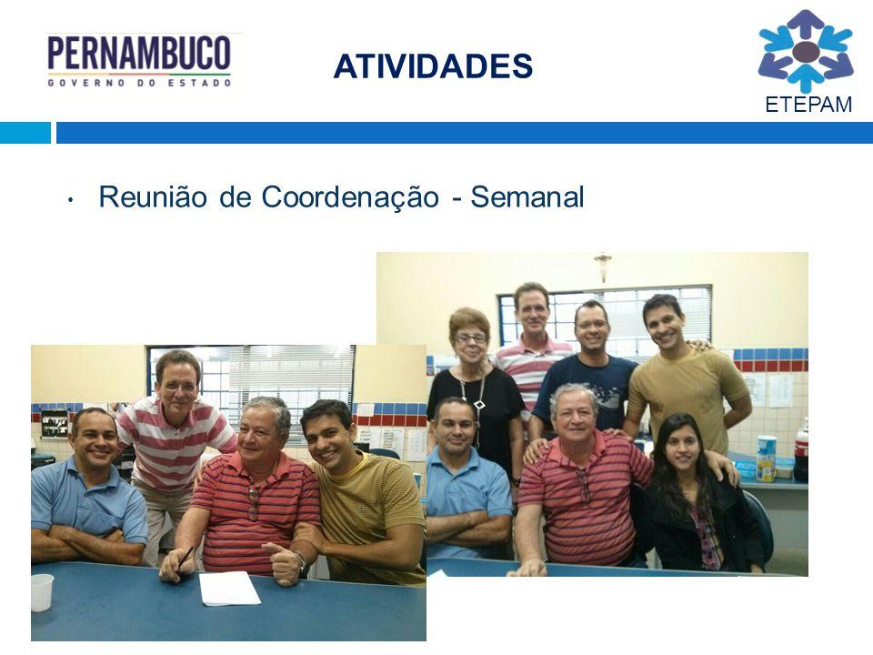 ATIVIDADES ETEPAM Reunião de Coordenação - Semanal