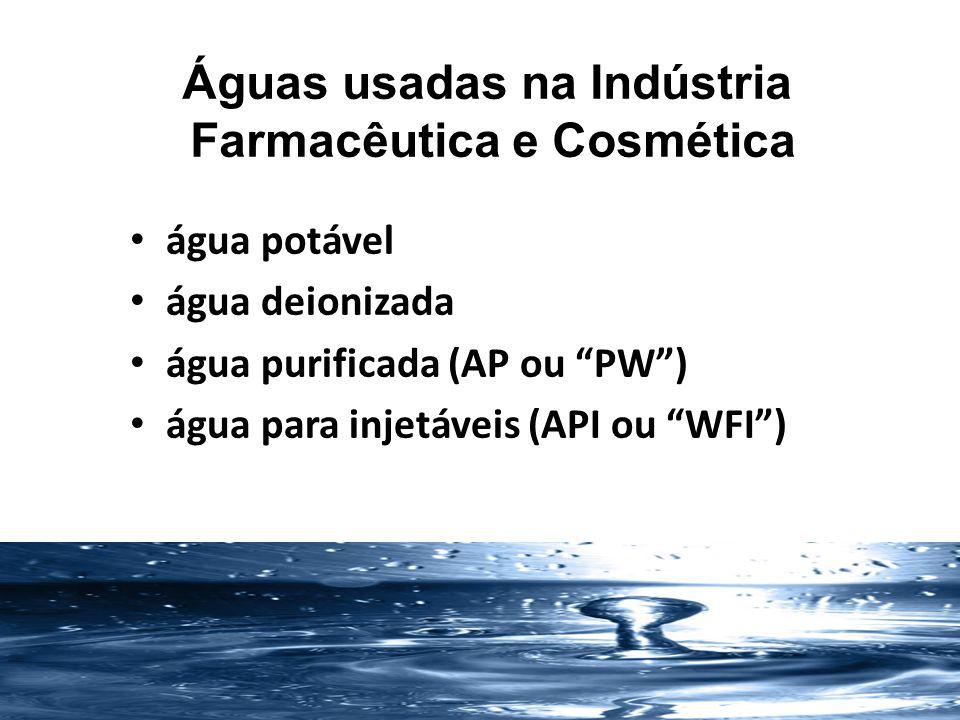 Águas usadas na Indústria Farmacêutica e Cosmética Porque purificar a água.