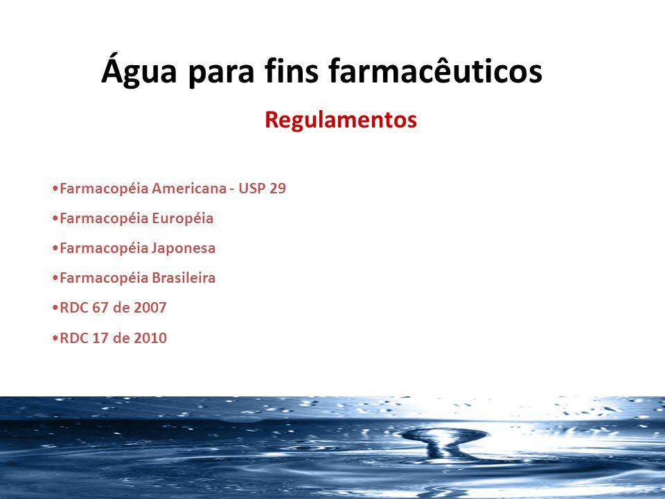 SISTEMAS PARA PURIFICAÇÃO Basicamente pelos 3 principais sistemas: -Troca Iônica/Deionização - Osmose Reversa - Destilação