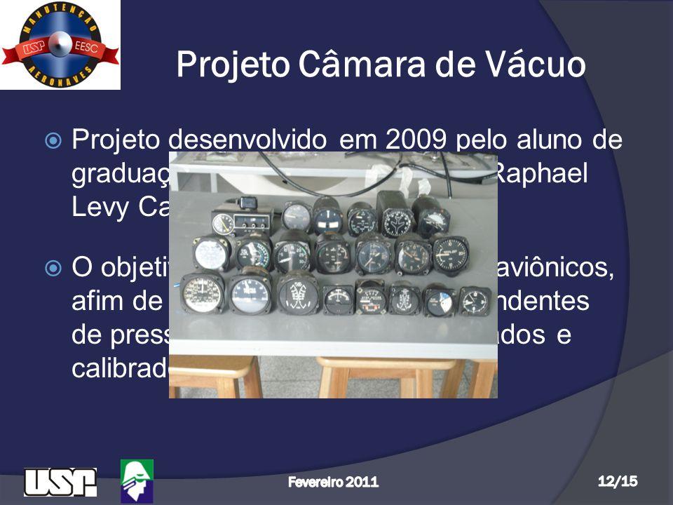 Projeto Câmara de Vácuo  Projeto desenvolvido em 2009 pelo aluno de graduação e integrante do GMA, Raphael Levy Carvalho do Lago;  O objetivo é auxi