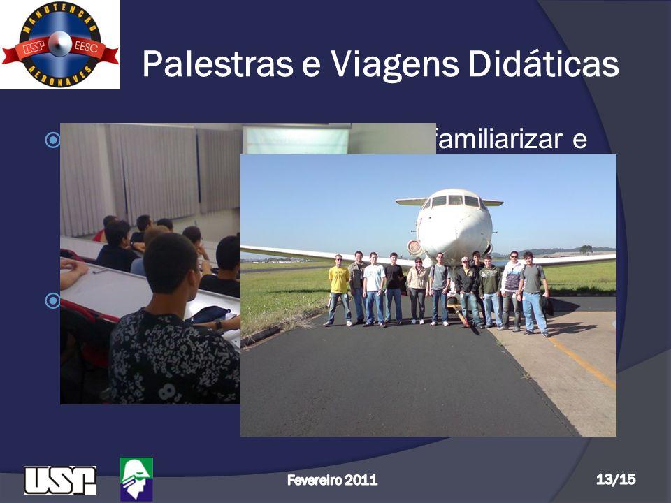 Palestras e Viagens Didáticas  As palestras tem objetivo de familiarizar e informar melhor os alunos sobre assuntos como Aeronavegabilidade, Regulame