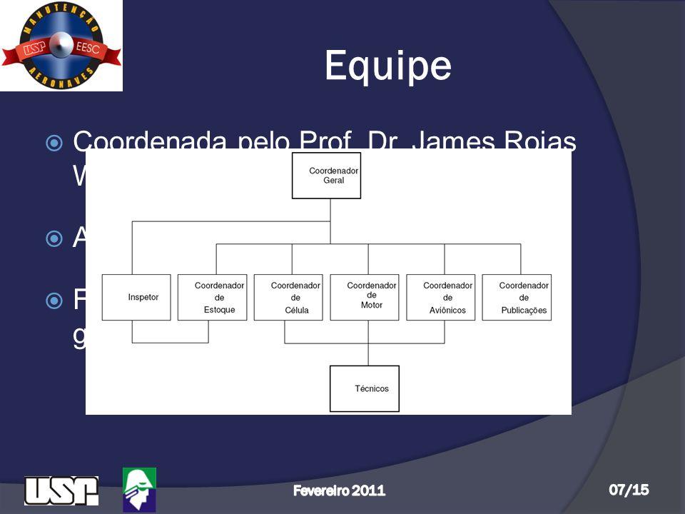 Equipe  Coordenada pelo Prof. Dr. James Rojas Waterhouse;  Auxiliada pelo técnico Fábio Gallo;  Formada atualmente por 15 alunos de graduação, que
