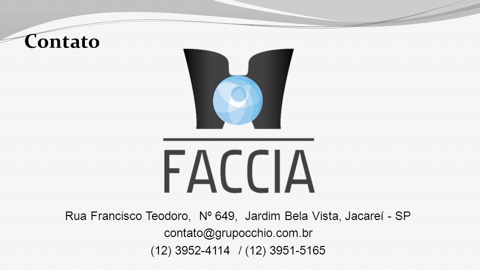 Contato Rua Francisco Teodoro, Nº 649, Jardim Bela Vista, Jacareí - SP contato@grupocchio.com.br (12) 3952-4114 / (12) 3951-5165