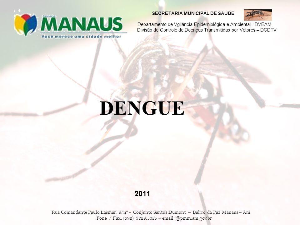 SECRETARIA MUNICIPAL DE SAUDE Departamento de Vgilância Epidemiológica e Ambiental - DVEAM Divisão de Controle de Doenças Transmitidas por Vetores – DCDTV No início da doença, os sintomas são iguais aos da Dengue Clássica.