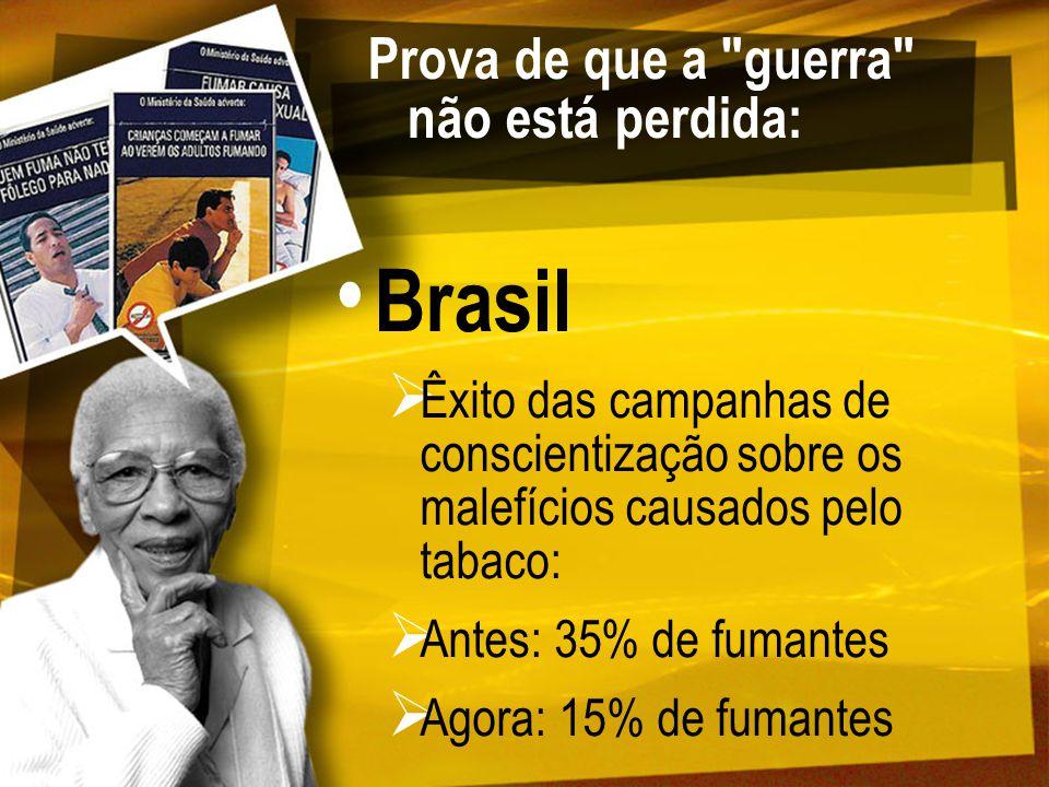 Brasil SENAD / CEBRID (Escoela Paulista de Medicina) Porcentajgem de personas de 12 a 65 anos que usaram, no mes anterior à pesquisa: Álcool: 35,3% Tabaco: 19,8% Alguma droga ilícita: 2,5% Maconha: 0,6% Uso na vida de alguma droga ilícita: 19,4% Isto é: 80,6% NUNCA usaram alguma droga que não fosse álcool ou tabaco!