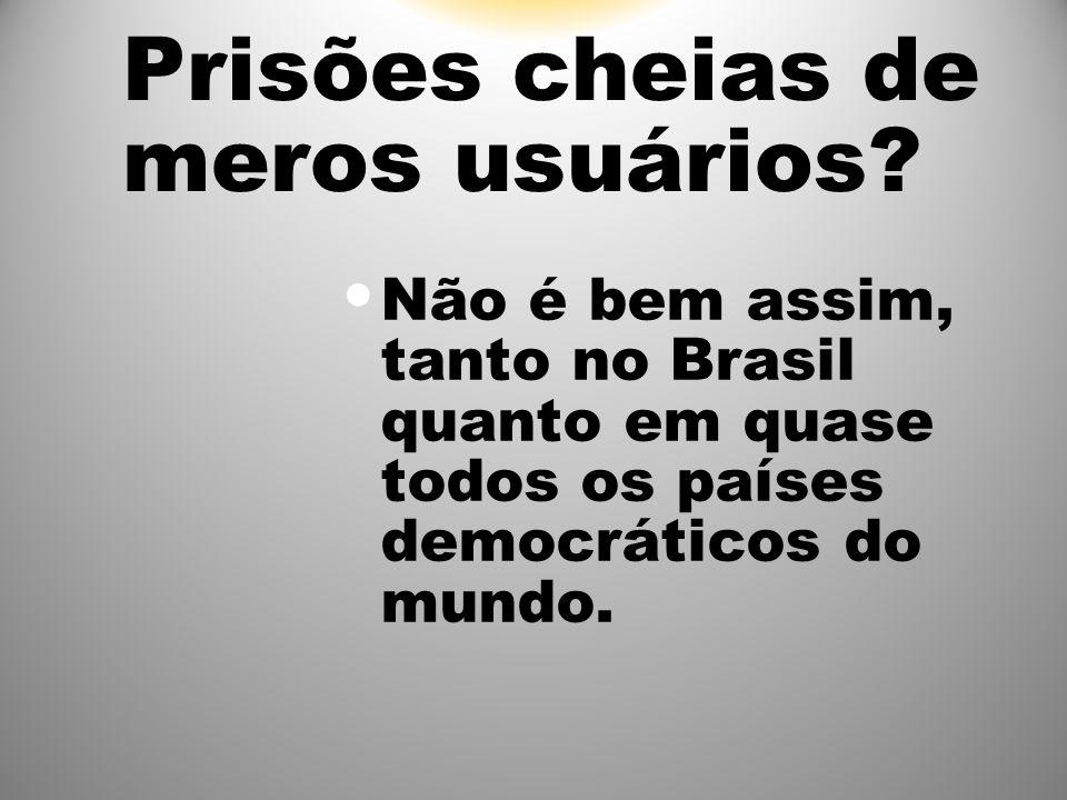 Prisões cheias de meros usuários? Não é bem assim, tanto no Brasil quanto em quase todos os países democráticos do mundo.