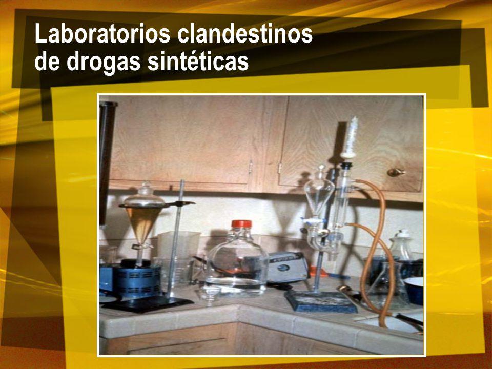 Laboratorios clandestinos de drogas sintéticas
