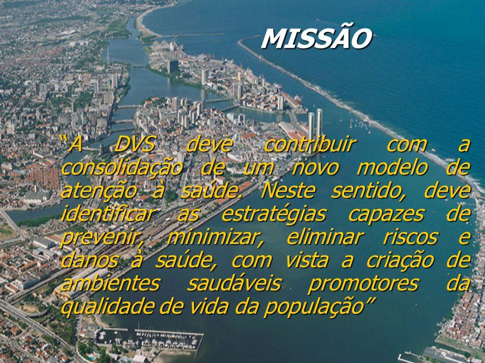 MISSÃO A DVS deve contribuir com a consolidação de um novo modelo de atenção à saúde.