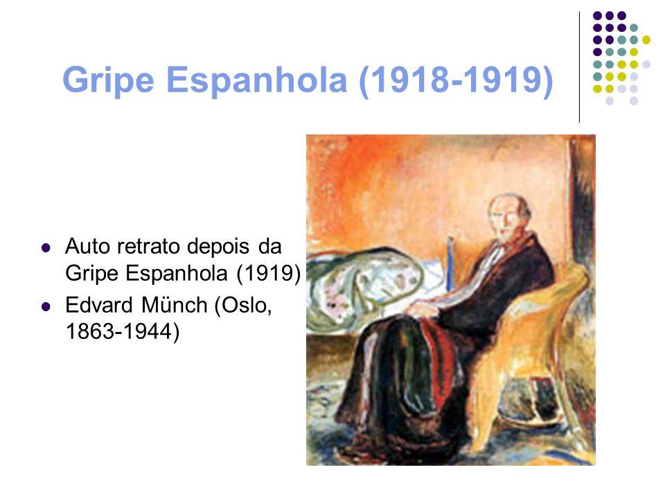 Gripe Espanhola (1918-1919) Auto retrato depois da Gripe Espanhola (1919) Edvard Münch (Oslo, 1863-1944)