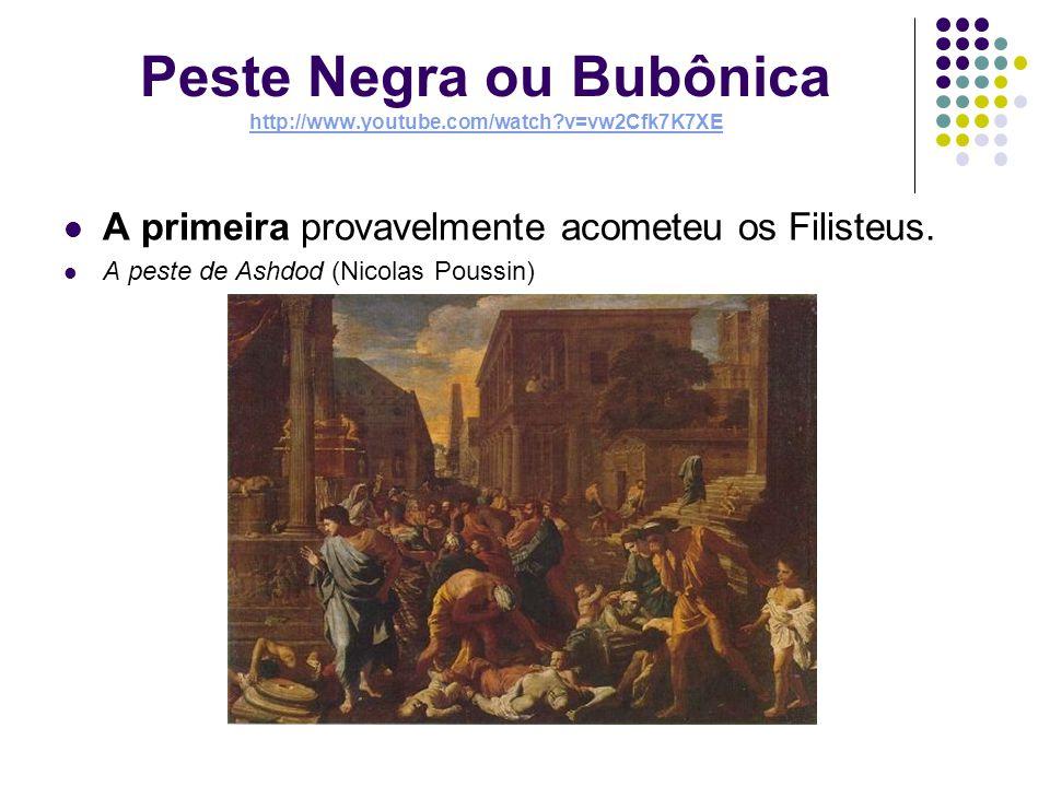 Peste Negra ou Bubônica A segunda ocorreu no Século XIV na Europa.