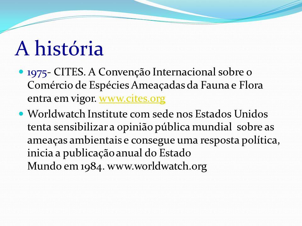 A história 1975- CITES.