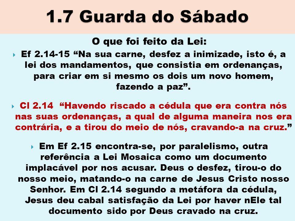 """O que foi feito da Lei:  Ef 2.14-15 """"Na sua carne, desfez a inimizade, isto é, a lei dos mandamentos, que consistia em ordenanças, para criar em si m"""