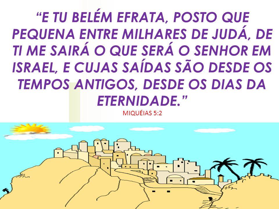 MAIS UMA PROFECIA SOBRE O NASCIMENTO DO SENHOR JESUS, Belém: uma cidade pequenina que ficava no território da Judéia, terra do rei Davi