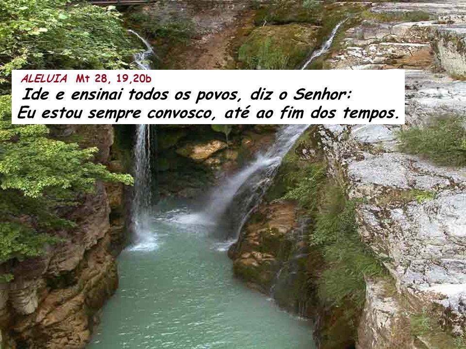 ALELUIA Mt 28, 19,20b Ide e ensinai todos os povos, diz o Senhor: Eu estou sempre convosco, até ao fim dos tempos.
