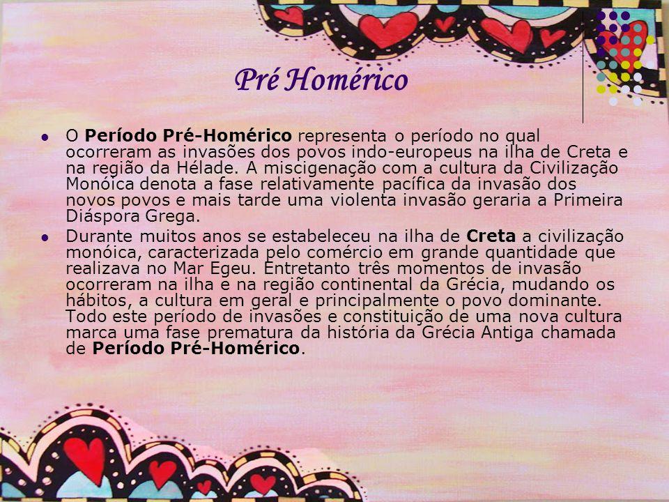 Pré Homérico Pré homérico