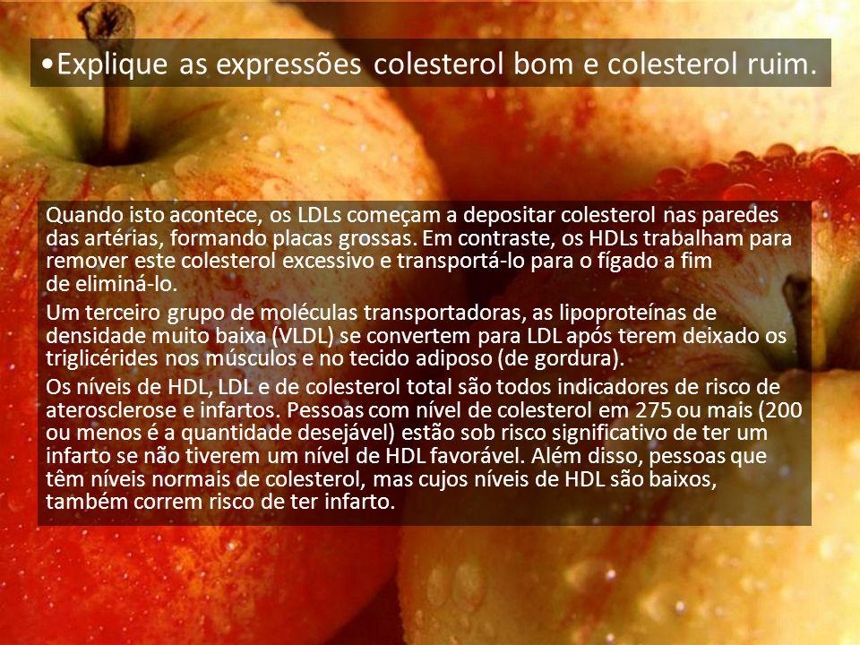 Quando isto acontece, os LDLs começam a depositar colesterol nas paredes das artérias, formando placas grossas.