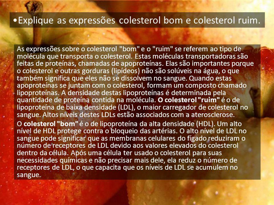 As expressões sobre o colesterol