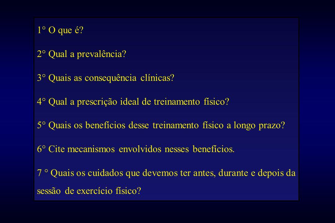 1° O que é. 2° Qual a prevalência. 3° Quais as consequência clínicas.