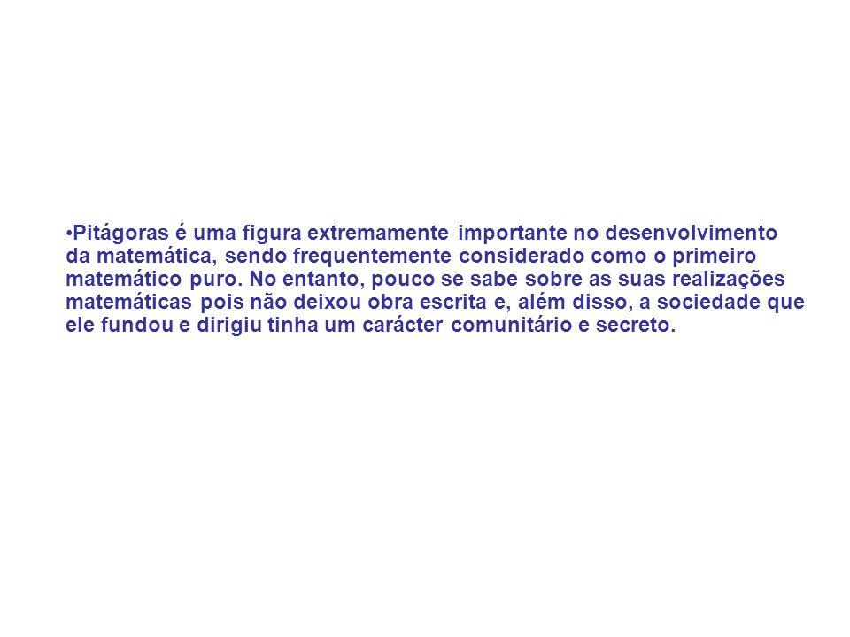 TEOREMA DE PITÁGORAS Exemplo 1:
