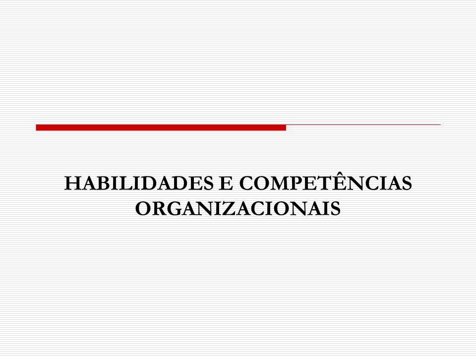 HABILIDADES E COMPETÊNCIAS ORGANIZACIONAIS
