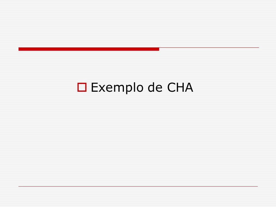  Exemplo de CHA