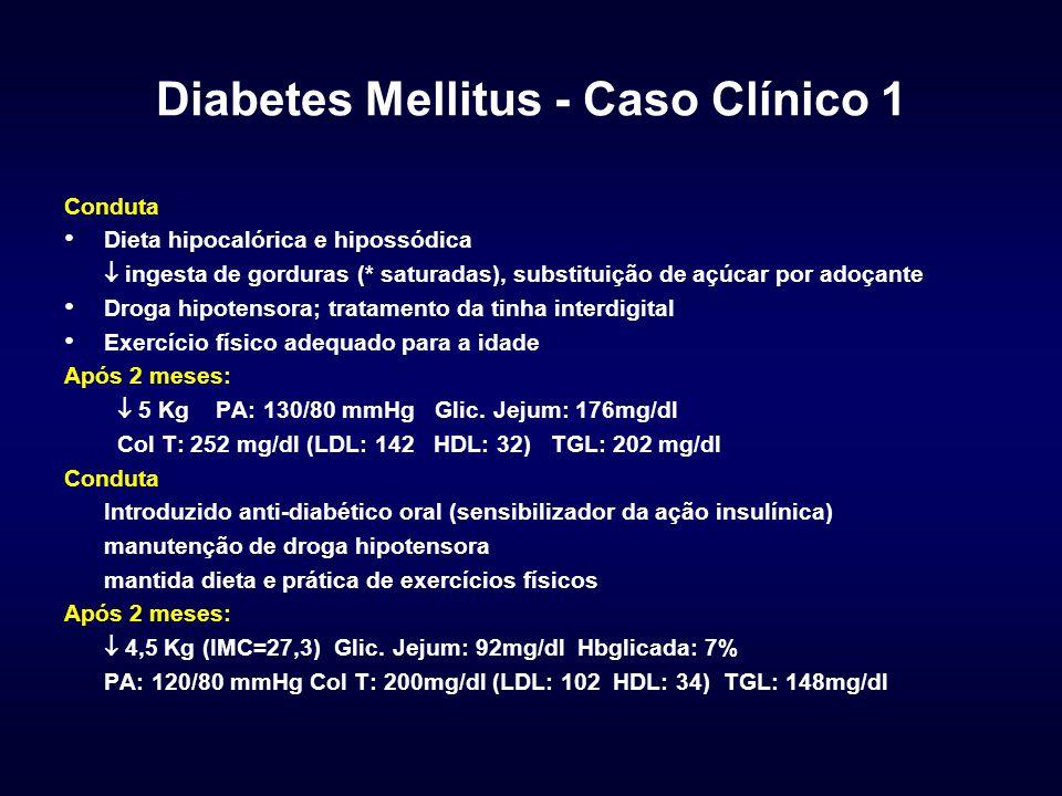 Diabetes Mellitus - Caso Clínico 2 QP.e História: Pac.