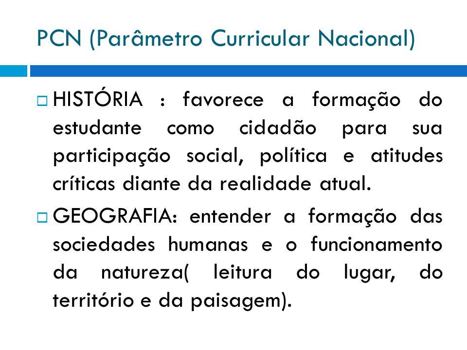 PCN (Parâmetro Curricular Nacional)  FILOSOFIA: permite orientar reflexões sobre as relações histórico-sociais.