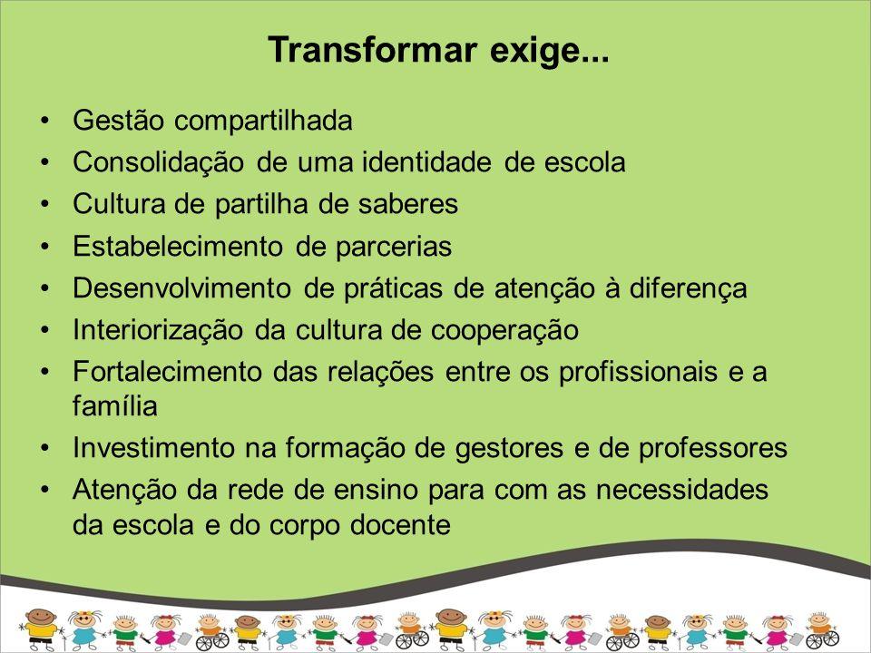 Transformar exige...