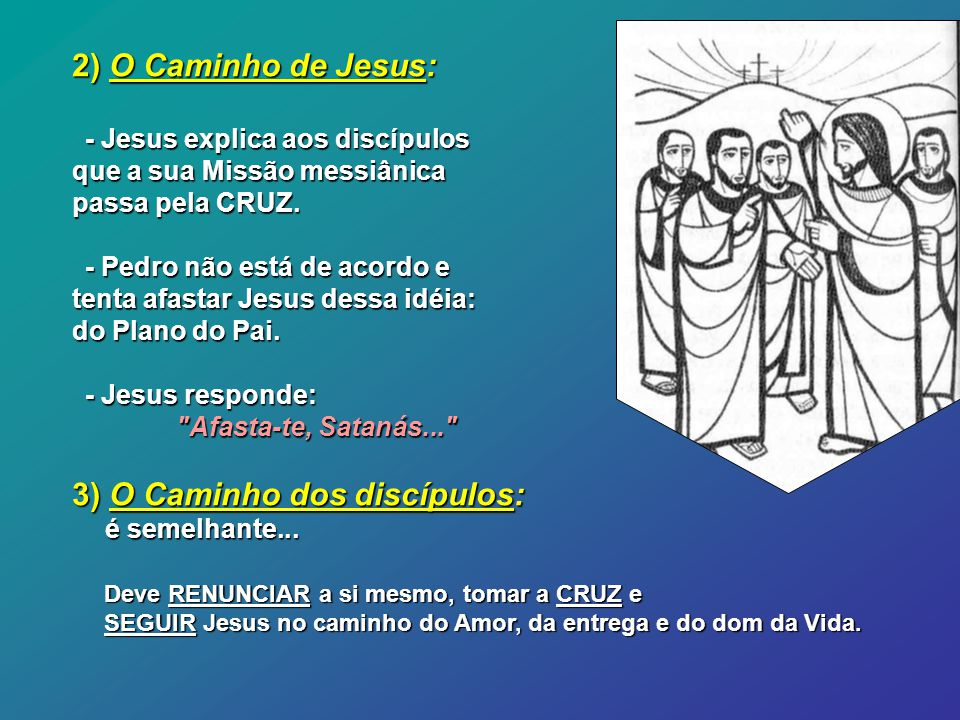 Jesus está a caminho de Jerusalém: 1)Uma pergunta: Quem é Jesus.