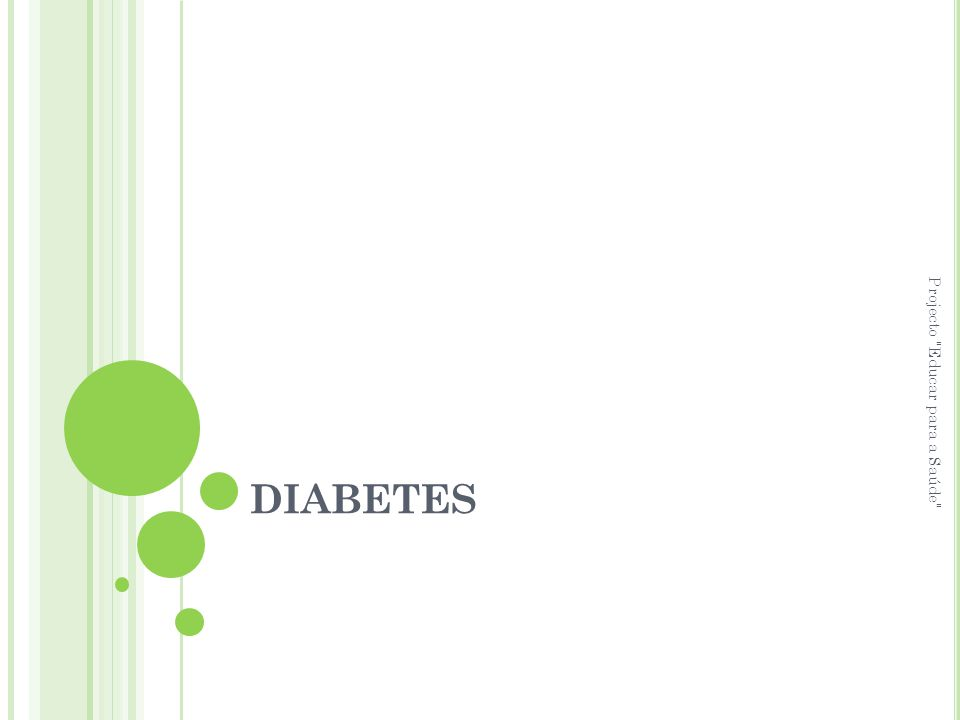 DIABETES Projecto