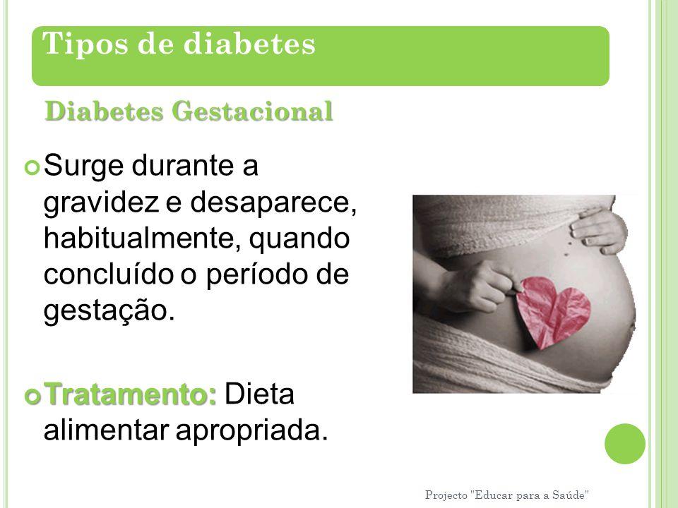 Surge durante a gravidez e desaparece, habitualmente, quando concluído o período de gestação. Tratamento: Tratamento: Dieta alimentar apropriada. Tipo
