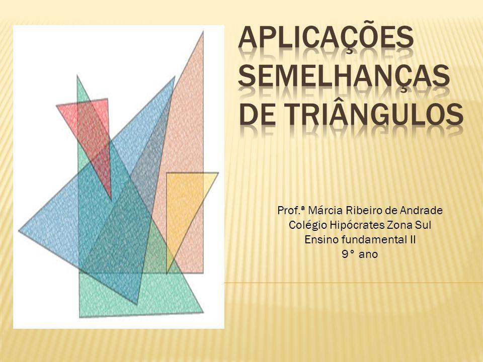 Prof.ª Márcia Ribeiro de Andrade Colégio Hipócrates Zona Sul Ensino fundamental II 9° ano