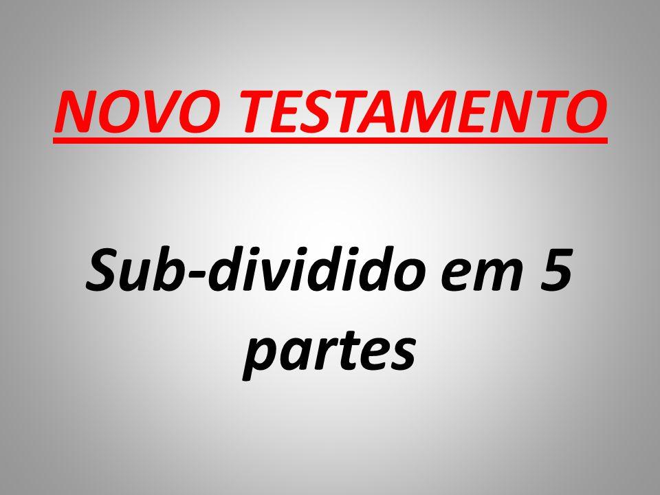 NOVO TESTAMENTO Sub-dividido em 5 partes