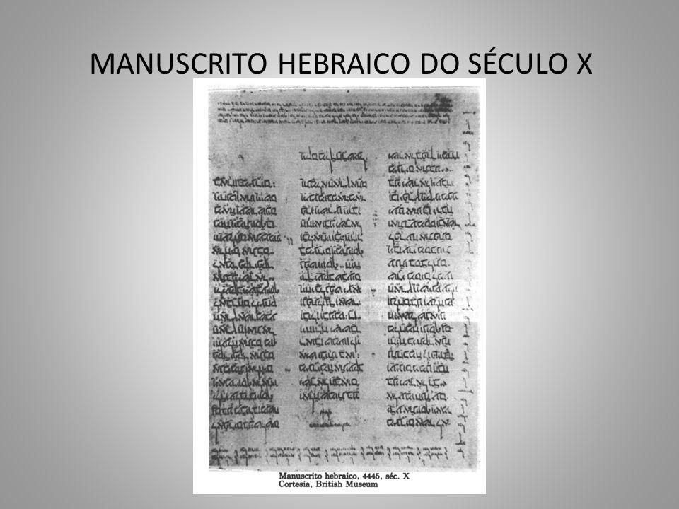 MANUSCRITO HEBRAICO DO SÉCULO X