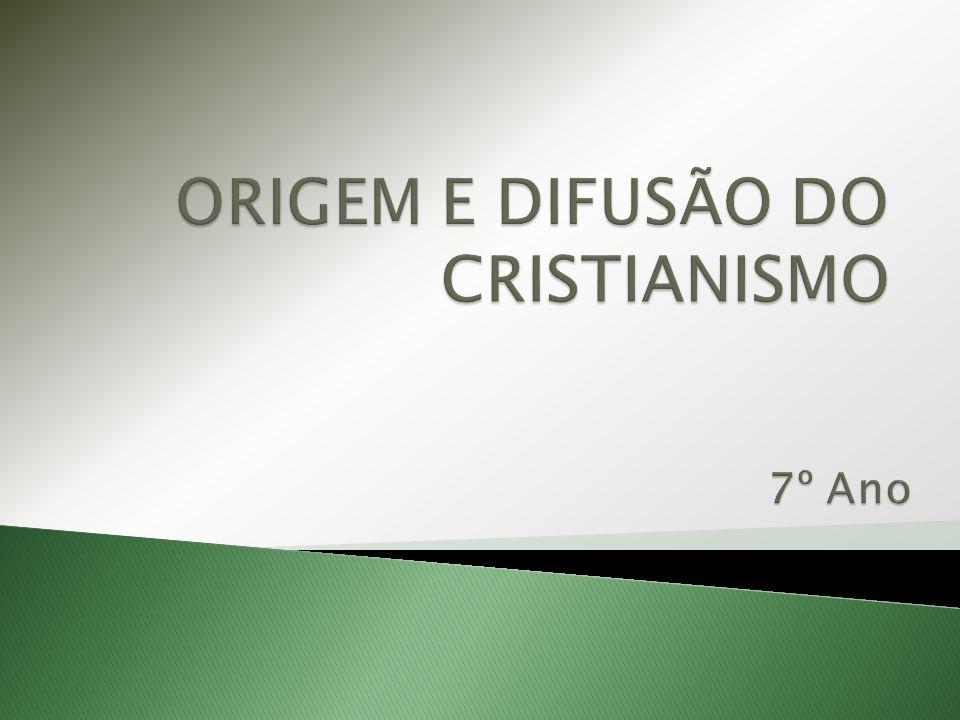  No tempo de Octávio César Augusto, nasceu em Belém, na província romana da Judeia, Jesus Cristo, fundador de uma nova religião – O CRISTIANISMO.