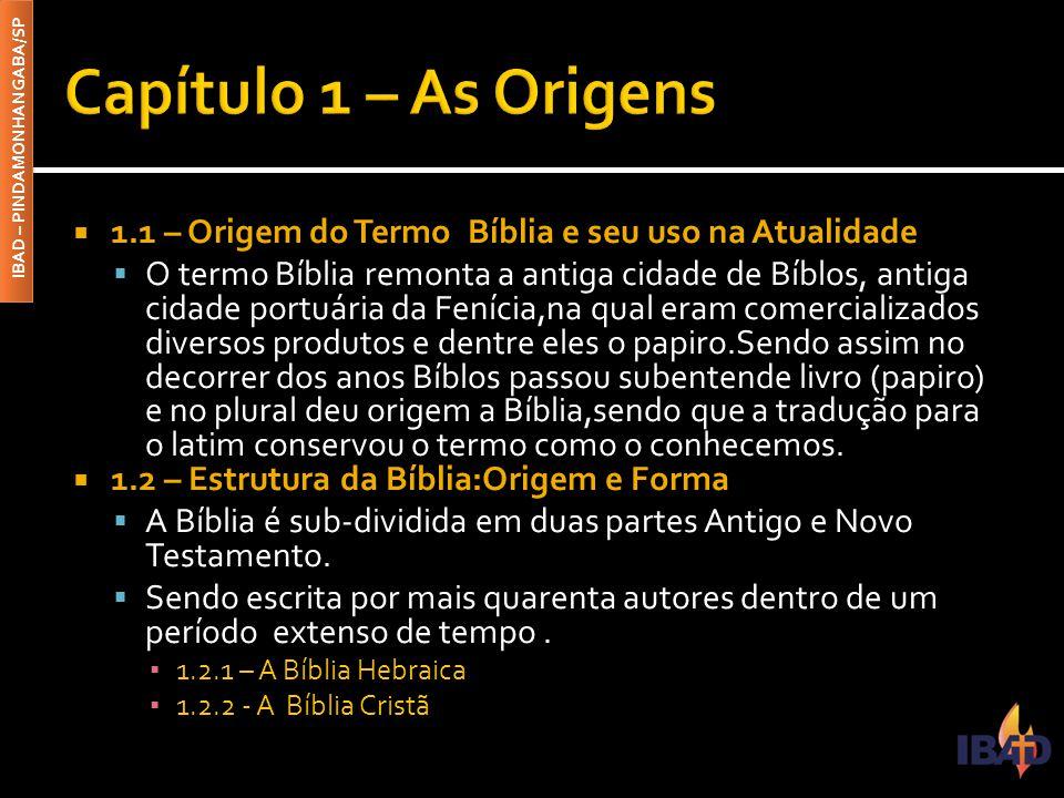 IBAD – PINDAMONHANGABA/SP  2.1 – A Diversidade das Línguas e os Idiomas da Bíblia  Com a dispersão dos povos antigos em Babel ( Gn.