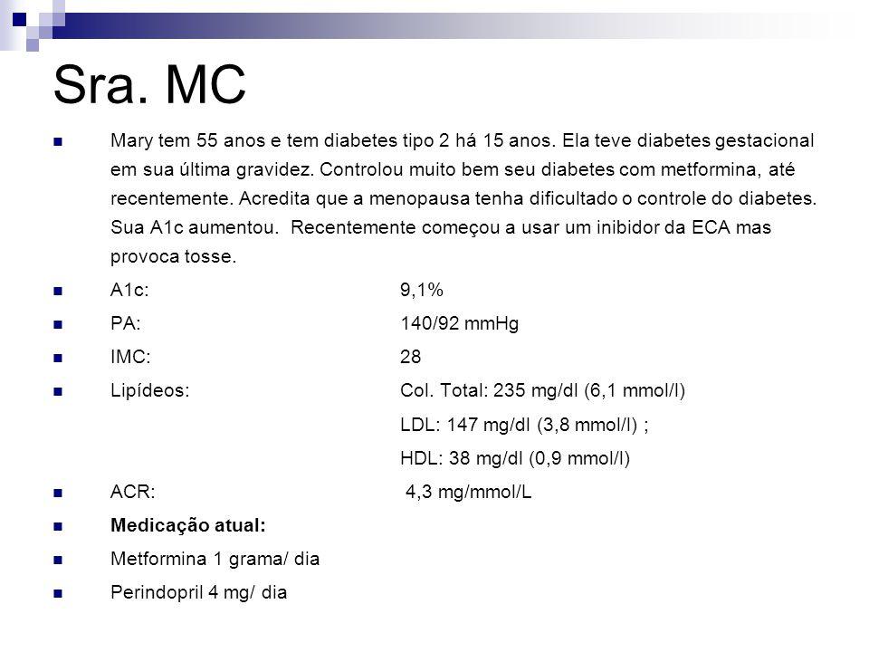 Sra.MC Essa senhora tem alto risco de doença cardiovascular.